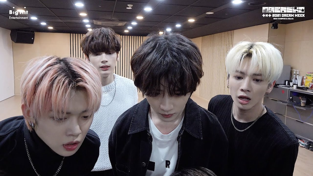 [2021 DREAM WEEK] TXT (투모로우바이투게더) Behind the Scenes of 'Sriracha' Cover #MOA_CAMPUS