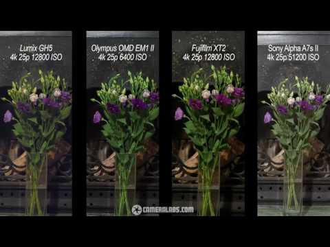 Lumix GH5 vs Olympus EM1 II vs Fujifilm XT2 vs Sony A7s II 4k movie