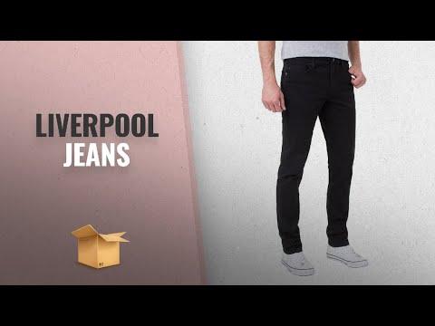 10 Mejores Liverpool 2018: Liverpool Jeans Men's Slim Fit Straight Stretch Slub Cotton Twill Pants,