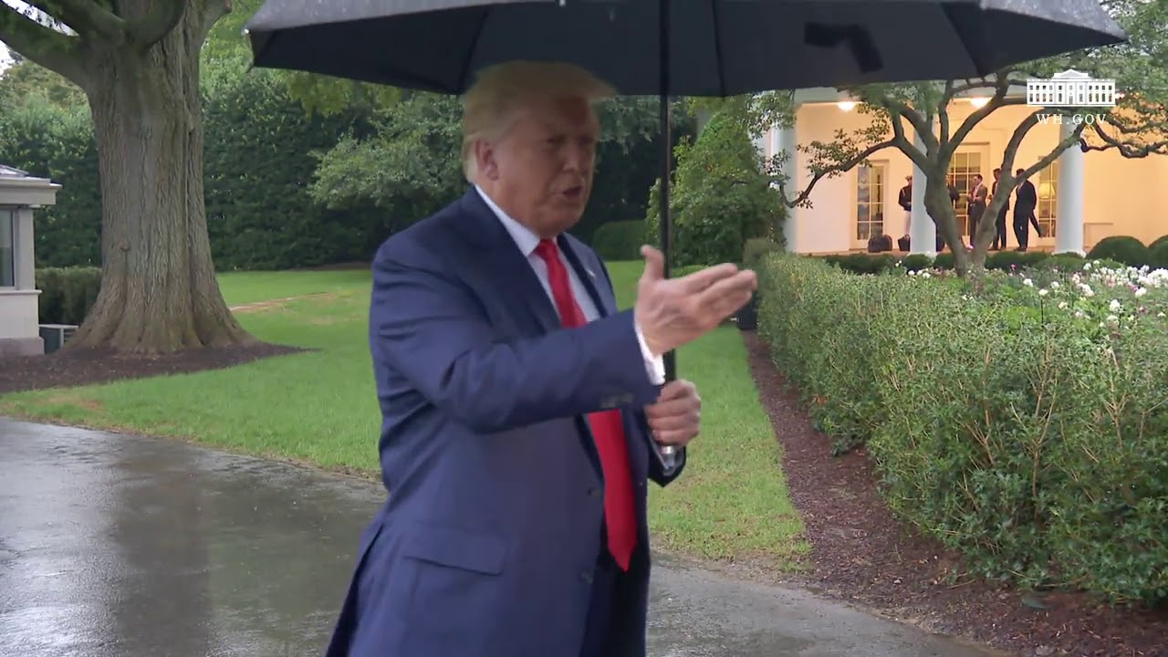 President Trump Delivers Remarks Upon Departure / Marine One Departure