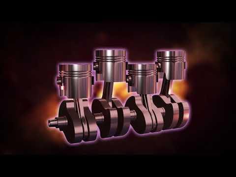 【工業製品】クランクシャフトの3DCGアニメーション