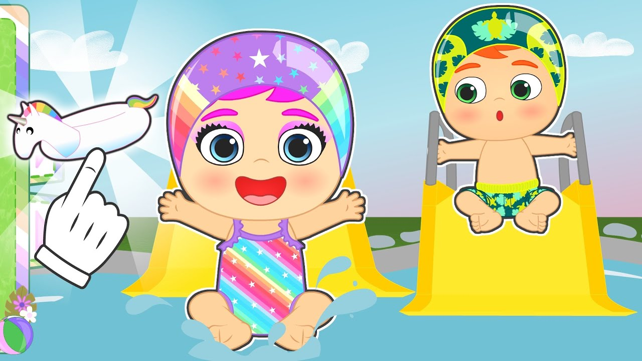 BEBÉS ALEX Y LILY 🩱💦 La piscina de toboganes