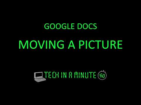 Picture moving and text wrap in Google Docs