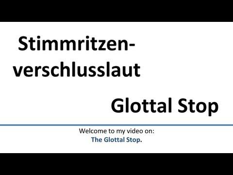 German: Glottal Stop in German (English subtitles)/Stimmritzenverschlusslaut (Engl. Untertitel)