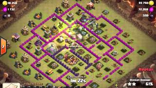 Clash of clans 3Star attack th9 3 stars a th10