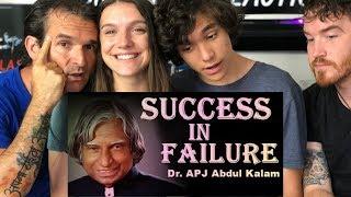 APJ Abdul Kalam | Inspirational | Manage failure and success SPEECH REACTION!!! Video