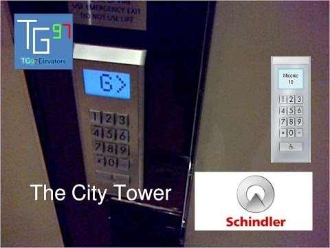 Schindler Miconic 10 Traction Elevators at The City Tower, Jakarta (20 - 33)