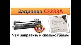 32 Заправка картриджа HP CF233A HP 33A  Как и чем заправить картридж HP CF233A HP 33A  Инструкция