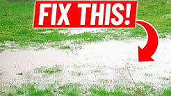 How to Fix Standing Water in the Lawn - Low Spot Drainage with Catch Basin