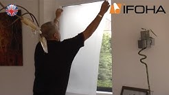 Video for sticking self adhesive window film on glass surfaces