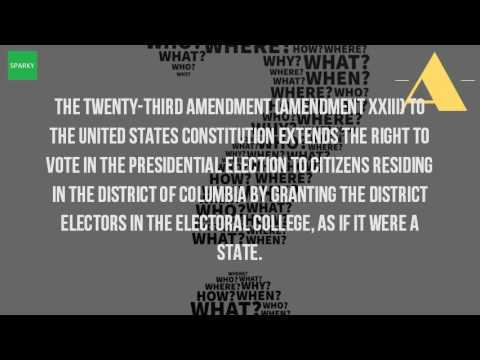 What Is The 23Th Amendment?