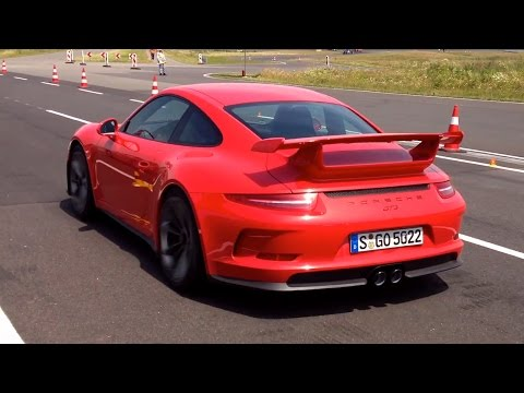 Porsche 911 GT3, 911 Turbo And Cayman GTS Hard Launches, Drift And Track Action