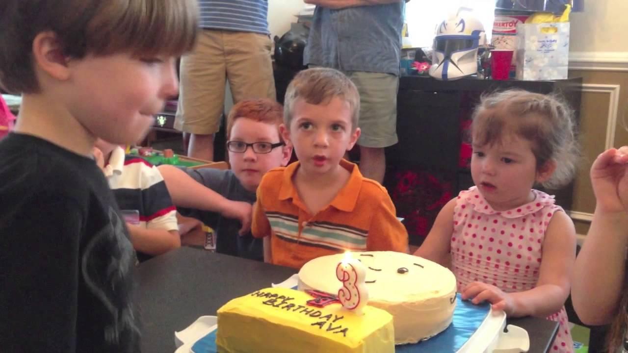 Avas 3rd Caillou Birthday Cake Youtube