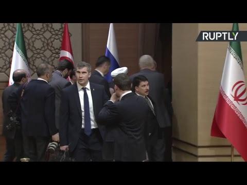 Conférence de presse de Poutine, d'Erdogan et de Rohani sur la Syrie