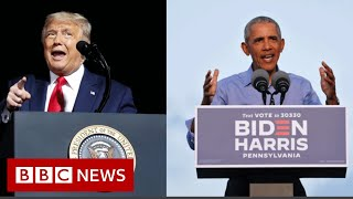 US Election 2020: Obama and Trump in political brawl on campaign trail - BBC News
