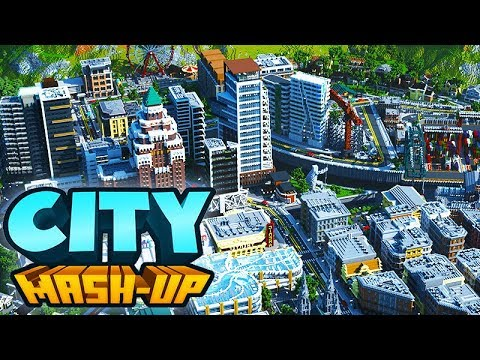 A Look At Minecraft City Mash Up By Everbloom Studios Part 1