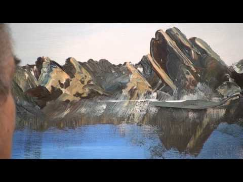 How to paint ocean and rocks in oil or acrylic.