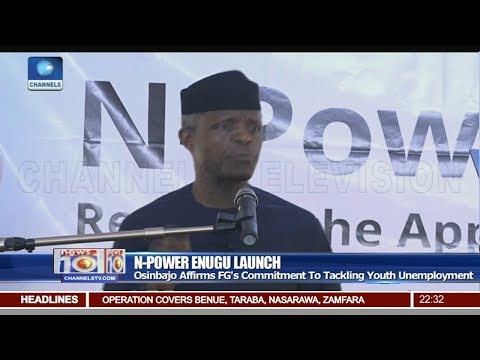 Osinbajo Affirms FG's Commitment To Tackling Youth Unemployment Pt 2 | News@10 |