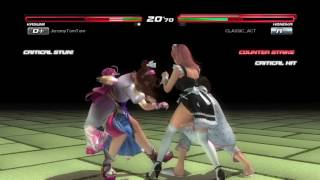 DOA5LR Kasumi/Mai Shiranui vs Lei Fang/Honoka