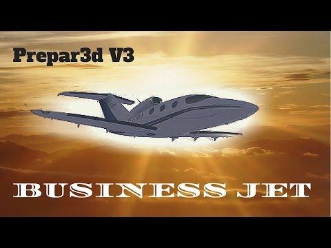 Prepar3d HD Business Jet - Epic Victory - LSGS/LFMN - Track IR