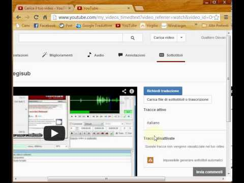 sottotitoli youtube srt