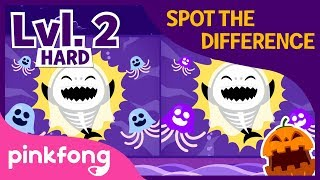 Spot the Difference: Halloween Sharks | Lvl.2 Hard | Baby Shark | Pinkfong Songs for Children