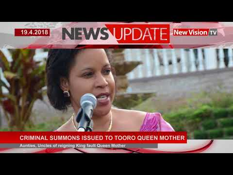 Criminal summons issued to Tooro Queen mother