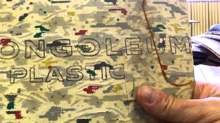 Asbestos In The Mail! 1957 Congoleum Gold Seal With G-10 Plastic