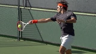 Roger Federer Forehand in Super Slow Motion - Indian Wells 2013
