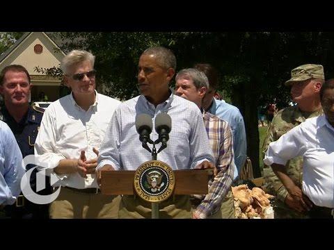 Obama: U.S. Is 'Heartbroken' Over Louisiana Floods | The New York Times
