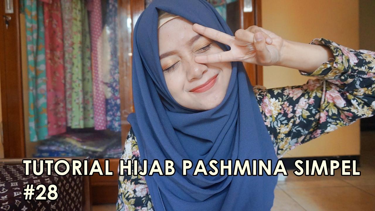 Tutorial Hijab Pashmina Simpel 28 Indahalzami YouTube