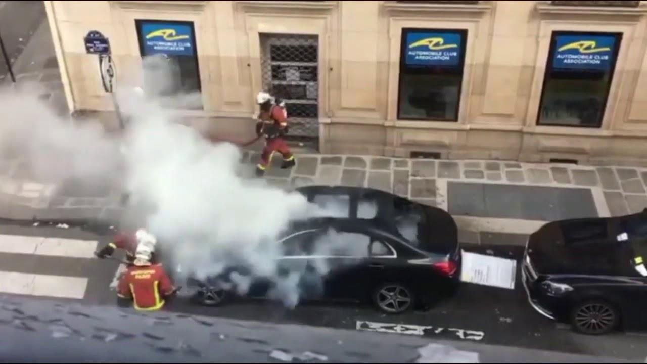 Как французские пожарные тушили новенький Mercedes