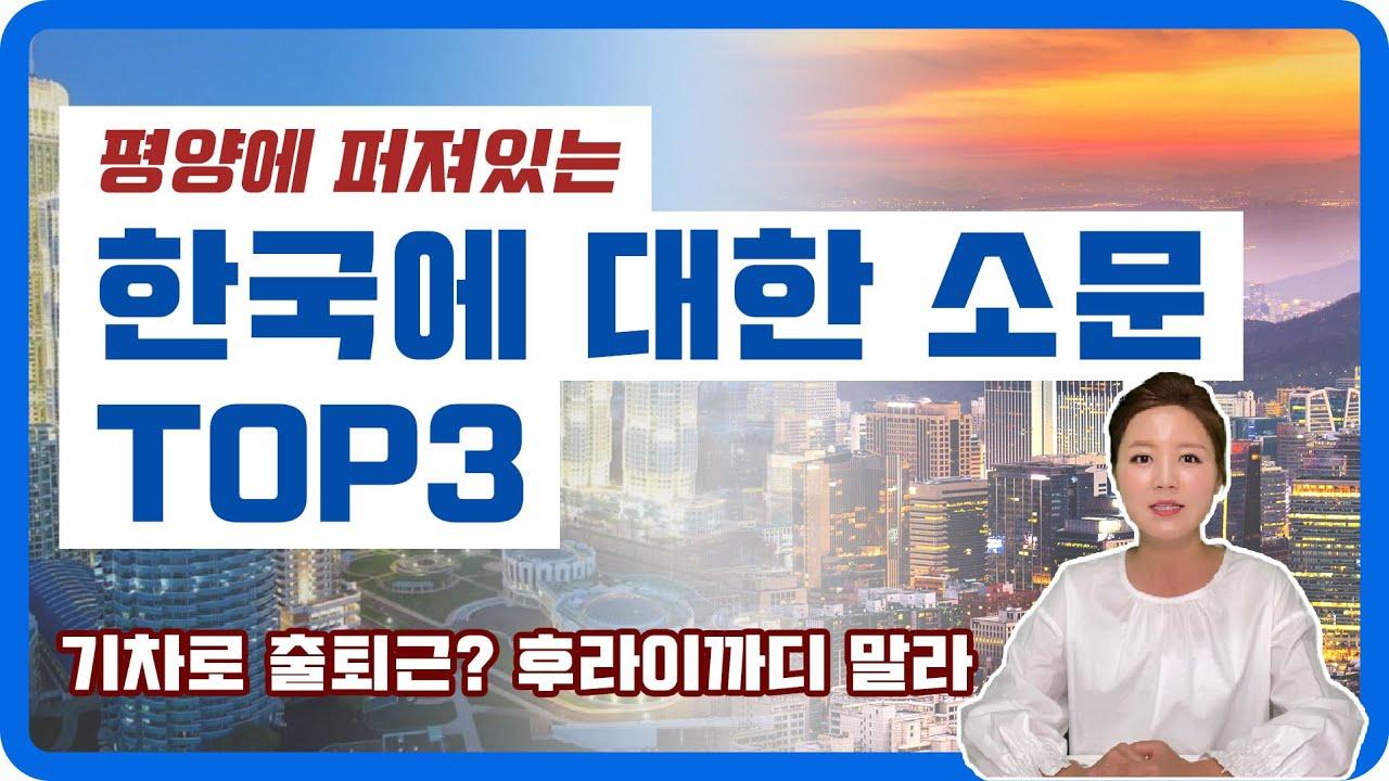 평양에 떠도는 한국에 대한 소문 TOP3 (ft. 후라이까디 말라)