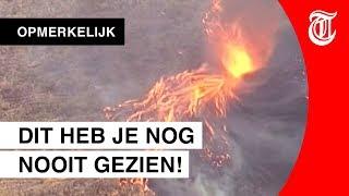 Indrukwekkende 'vuurnado' gefilmd