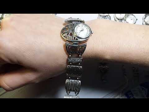 БРЮС часы и браслет серебро 925*