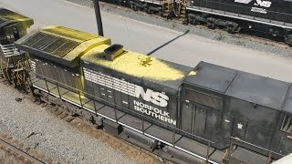 Messed up NS units, WLE and EMD's : Bellevue Ohio, Labor Day