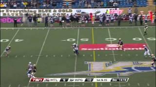 CFL Recap: Montreal 25, Winnipeg 26 - October 22, 2011