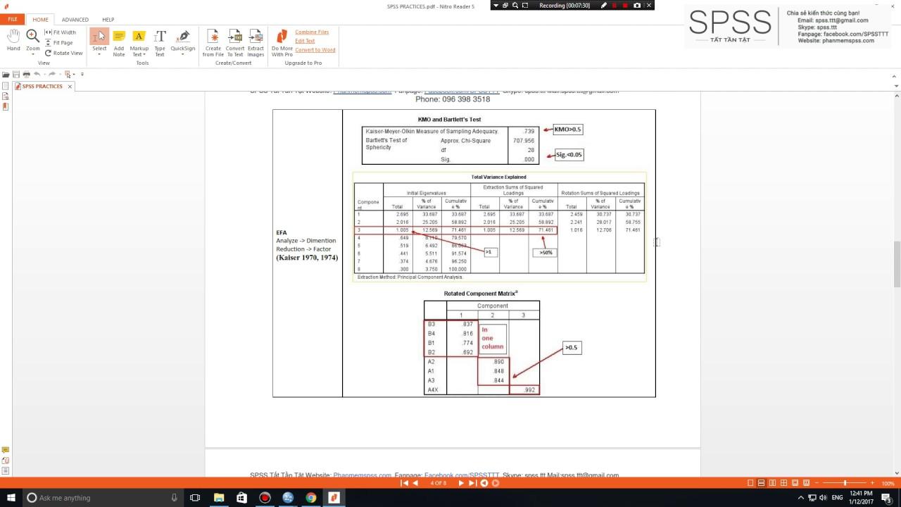 [SPSS] Hướng dẫn sử dụng SPSS phân tích dữ liệu trong nghiên cứu khoa học.