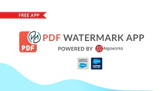 PDF Watermark App By Algoworks…