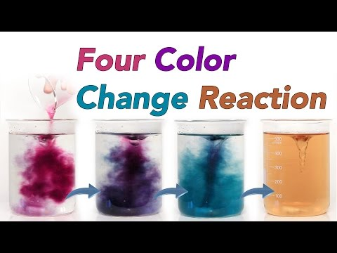 Four Colour Change Reaction (Chameleon Chemical Reaction)