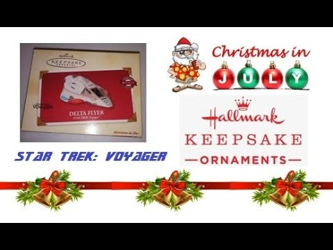 2002 Hallmark Keepsake Ornament  DELTA FLYER STAR TREK VOYAGER