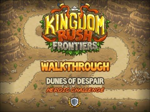 Kingdom Rush Frontiers Walkthrough: Dunes of Despair (stg4) Heroic Challenge Veteran |