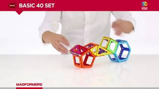 MAGFORMERS BASIC 40 MAGNETIC CONSTRUCTION SET - ideal for maths.