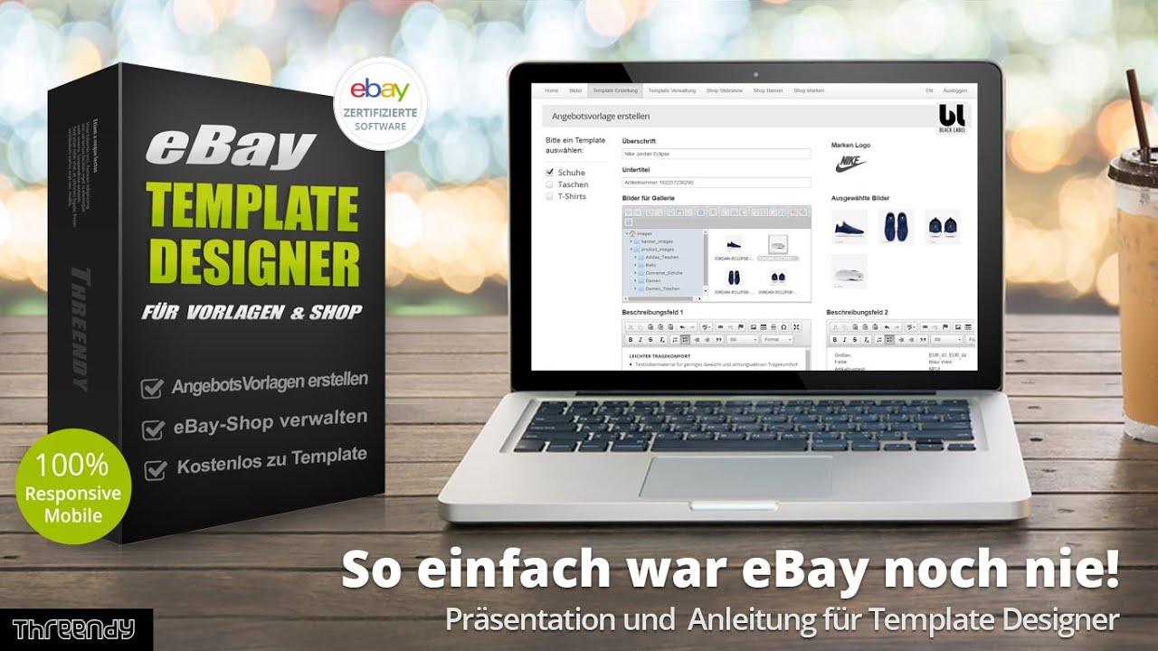 Ebay template designer ebay shop verwaltung youtube pronofoot35fo Choice Image