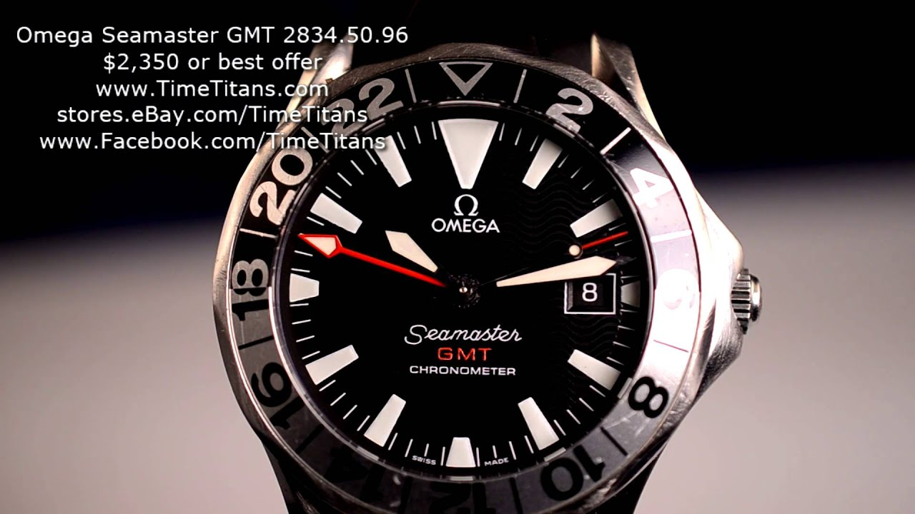 Omega Seamaster Gmt 50th Anniversary 2834 50 96 Rubber