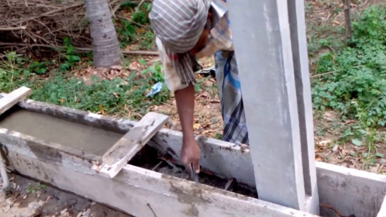 Erecting A Concrete Fence With Plinth Beam Diy Youtube