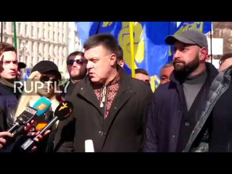 Live: Ukrainian nationalists march against oligarchs in Kiev