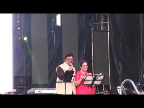 SPB 50 Grand Musical Tour in Toronto - S. P. B. introduces S. P. Sailaja on Stage