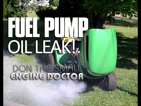 Lawn Tractor Fuel Pump Oil Leak Diagnosis & Repair Solution