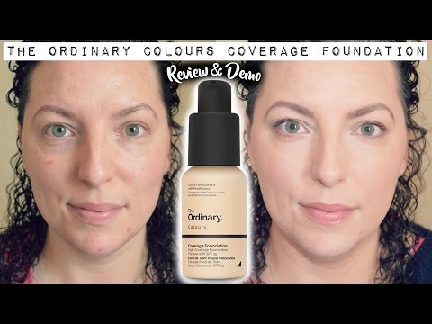 NEW | The Ordinary Colours Coverage Foundation - Review & Demo | Down to Earth Beauty | WavyKate